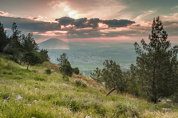Mt. Tabor From Mt. Of Precipice Print by Sergey Simanovsky