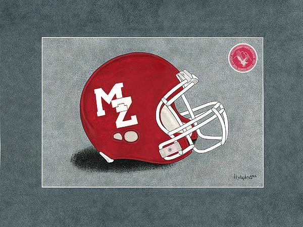 Mt Zion Eagles Helmet By Herb Strobino