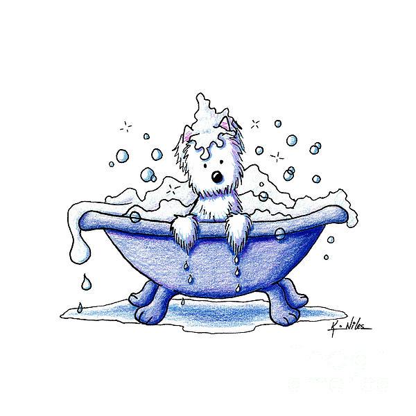 Muggles Bubble Bath Print by Kim Niles