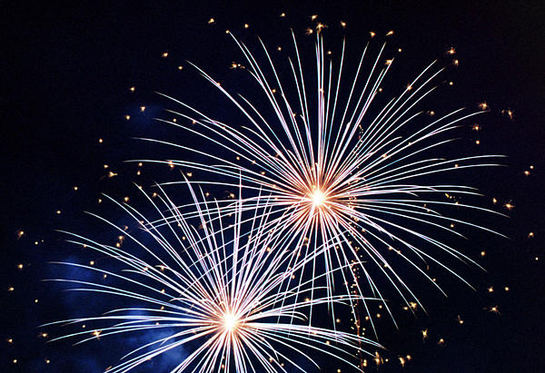 4th Of July Fireworks 3 Print by Howard Tenke