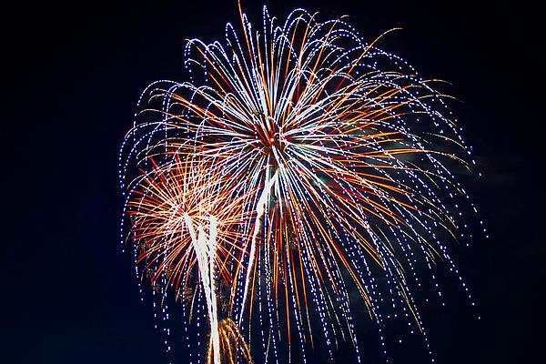 4th Of July Fireworks 14 Print by Howard Tenke