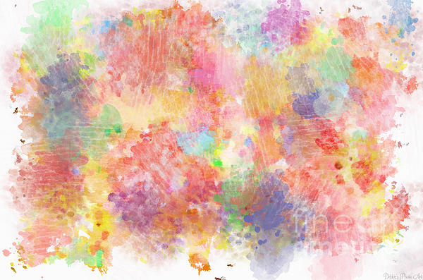 Multi Colored Ditgital Abstract 5 Print by Debbie Portwood