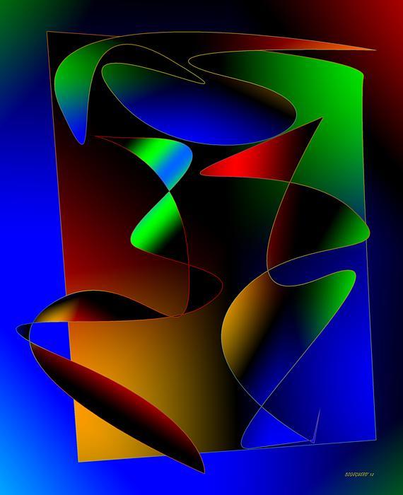 Multicolor Abstract Art Print by Mario  Perez