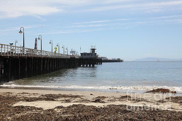 Municipal Wharf At The Santa Cruz Beach Boardwalk California 5d23766 Print by Wingsdomain Art and Photography