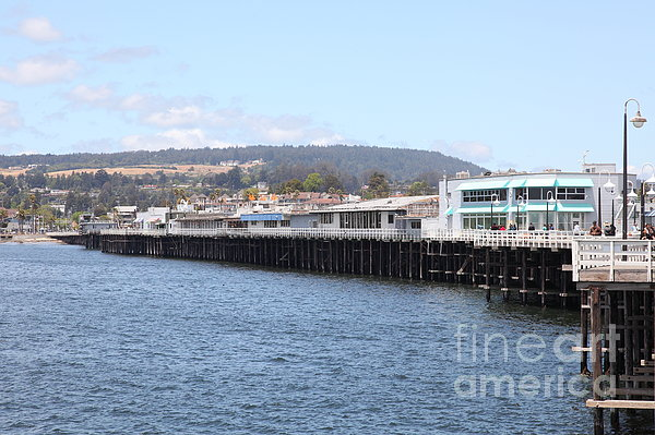 Municipal Wharf At The Santa Cruz Beach Boardwalk California 5d23813 Print by Wingsdomain Art and Photography