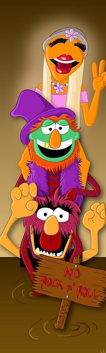 Muppet's Stretching Room Portrait #1 Print by Lisa Leeman