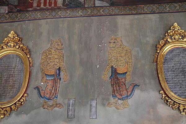 Mural - Wat Pho - Bangkok Thailand - 01132 Print by DC Photographer