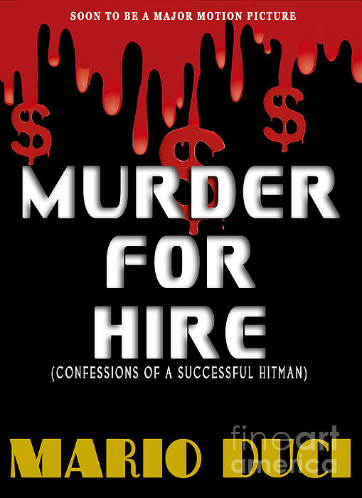 Murder For Hire Book Cover Print by Mike Nellums