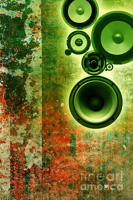 Music Background Print by Christophe ROLLAND