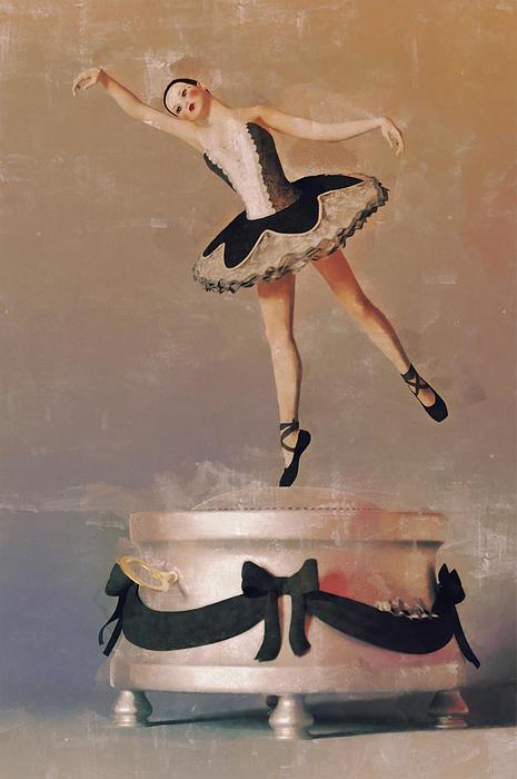 Music Box Ballet Dancer Print by Liam Liberty
