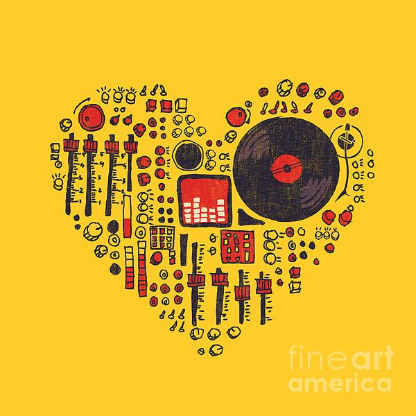 Music In Every Hearbeat Print by Budi Satria Kwan