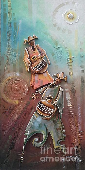 Music Makers Print by Omidiran Gbolade