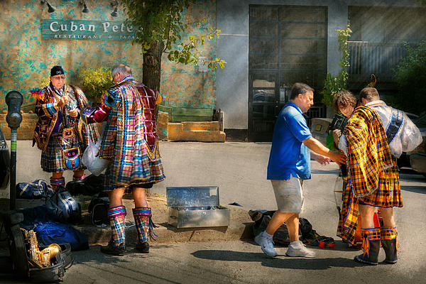 Music - Mummers Preperation Print by Mike Savad