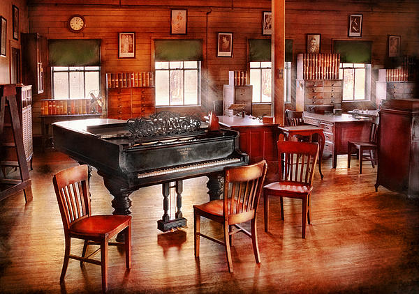 Music - Piano - The Grand Piano Print by Mike Savad