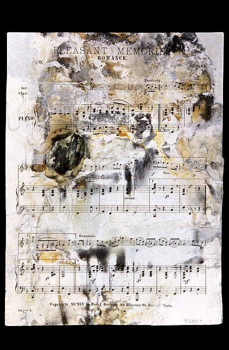 Music Score From The Titanic Print by Science Photo Library