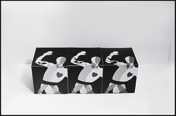 My Bauhaus Harlequin Print by Charles Stuart