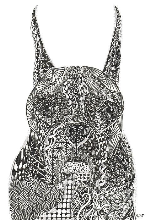 My Buddy - Boxer Print by Dianne Ferrer