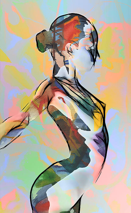My Colorful Ballerina Print by Stefan Kuhn