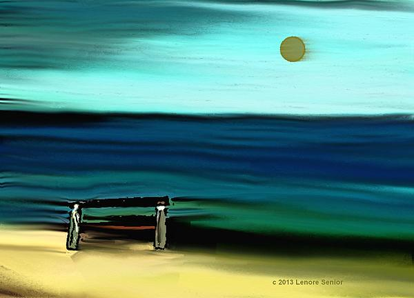 My Father's Bench Print by Lenore Senior
