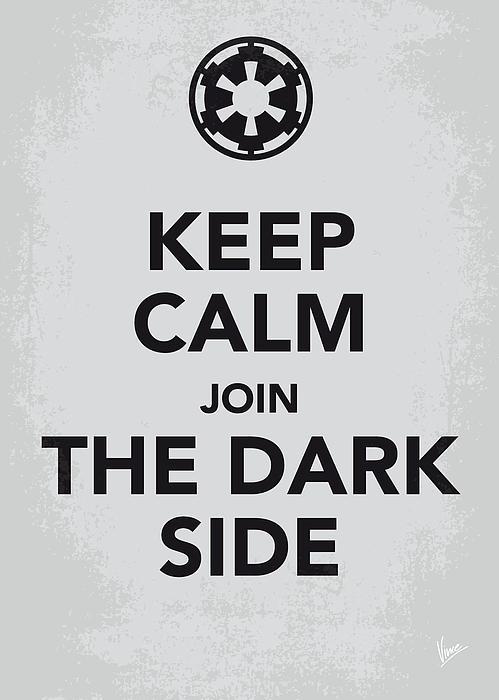 My Keep Calm Star Wars - Galactic Empire-poster Print by Chungkong Art