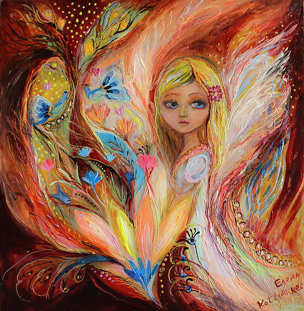 My Little Fairy Sandy Print by Elena Kotliarker