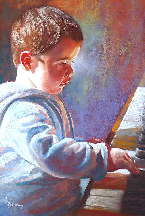 My Little Mozart Print by Lynda Robinson