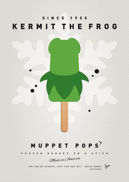 My Muppet Ice Pop - Kermit Print by Chungkong Art