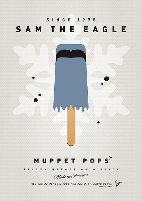 My Muppet Ice Pop - Sam The Eagle Print by Chungkong Art