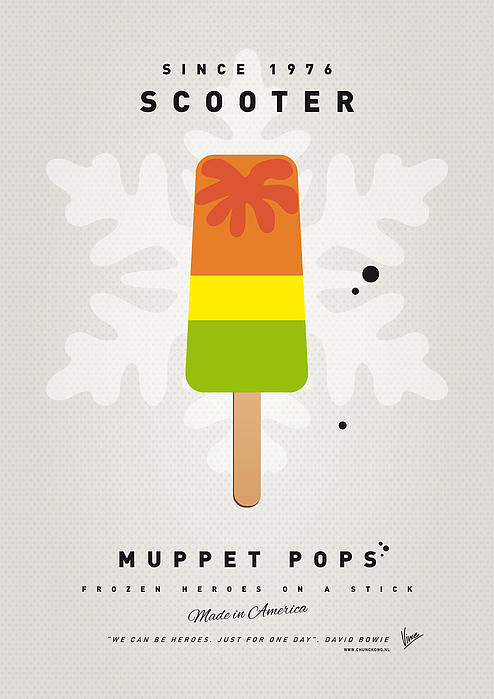 My Muppet Ice Pop - Scooter Print by Chungkong Art