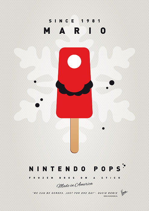 My Nintendo Ice Pop - Mario Print by Chungkong Art