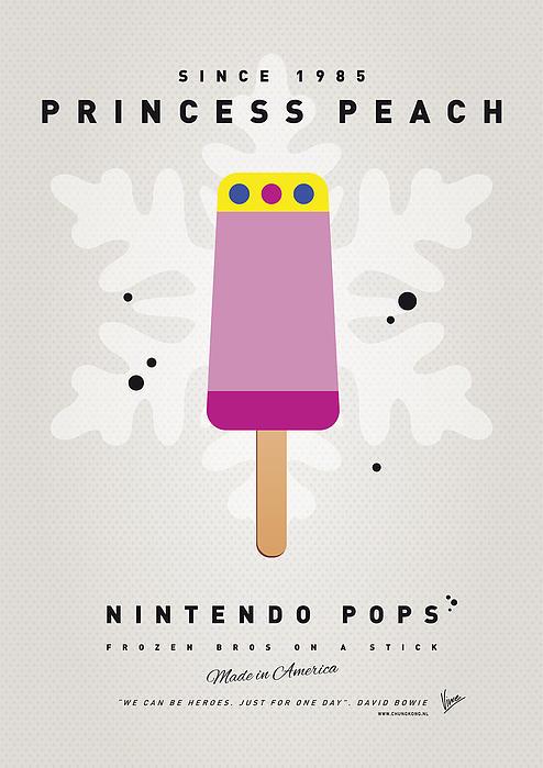 My Nintendo Ice Pop - Princess Peach Print by Chungkong Art