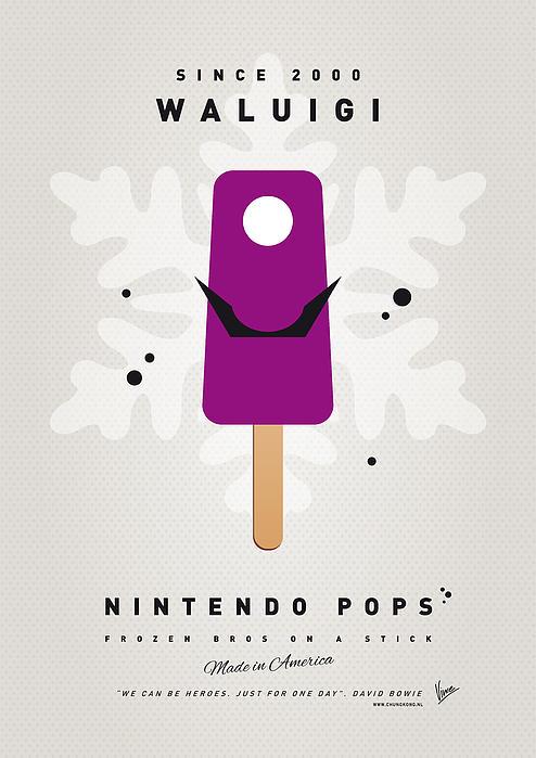My Nintendo Ice Pop - Waluigi Print by Chungkong Art