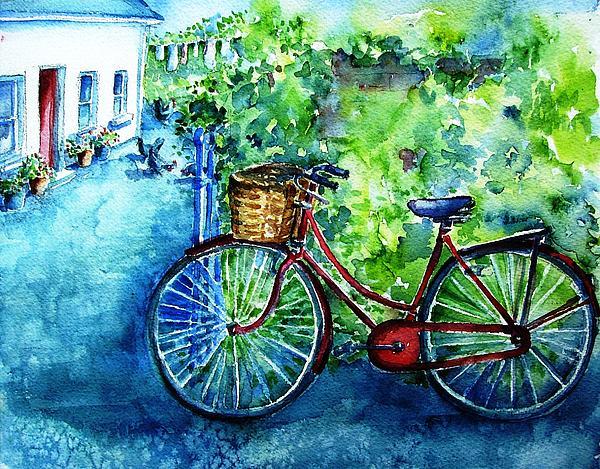 My Red Bike  Print by Trudi Doyle