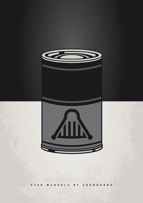 My Star Warhols Darth Vader Minimal Can Poster Print by Chungkong Art