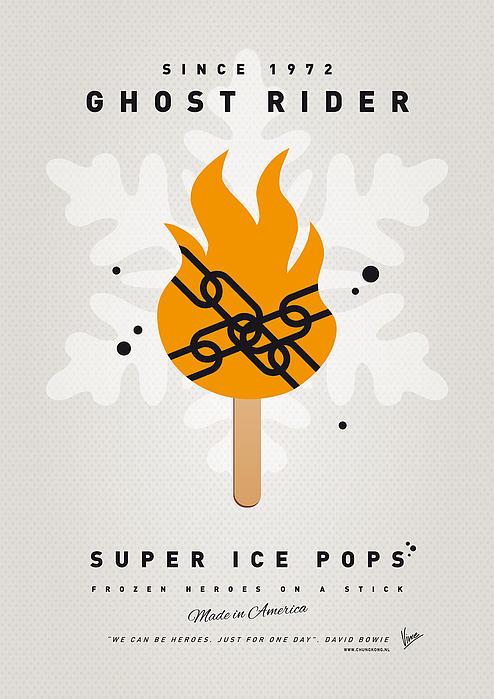 My Superhero Ice Pop - Ghost Rider Print by Chungkong Art