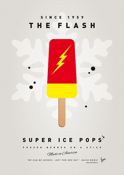 My Superhero Ice Pop - The Flash Print by Chungkong Art