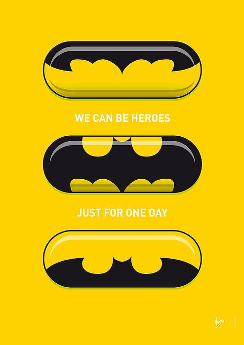My Superhero Pills - Batman Print by Chungkong Art