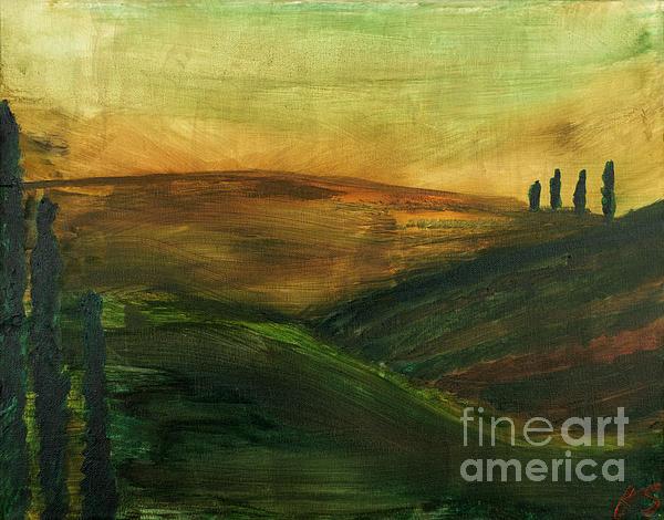 My Tuscany Print by Katy  Scott