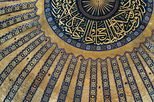 Mysterious Sunlight In Hagia Sophia Print by Ayhan Altun