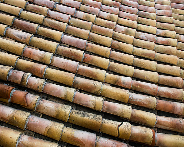 Nafplio Roof Tiles Print by David Waldo