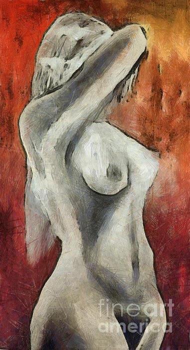 Naked Woman Print by Michal Boubin