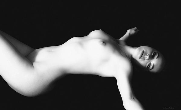 Naked Woman Print by Ramon Martinez
