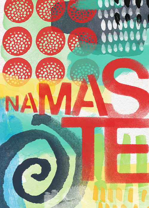 Namaste- Contemporary Abstract Art Print by Linda Woods