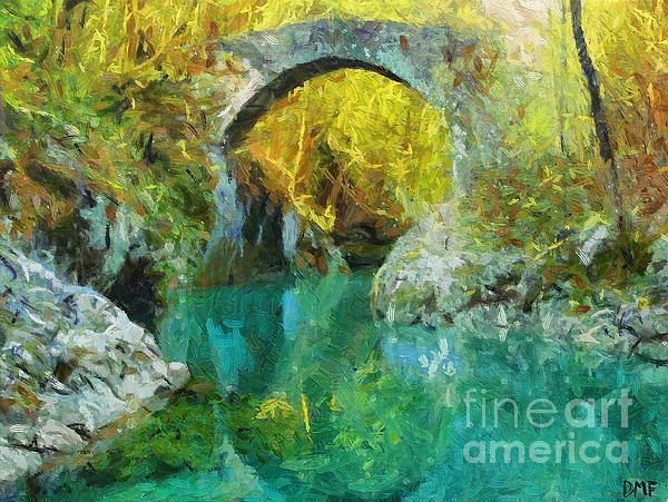 Napoleon Bridge Across The River Nadiza Print by Dragica  Micki Fortuna