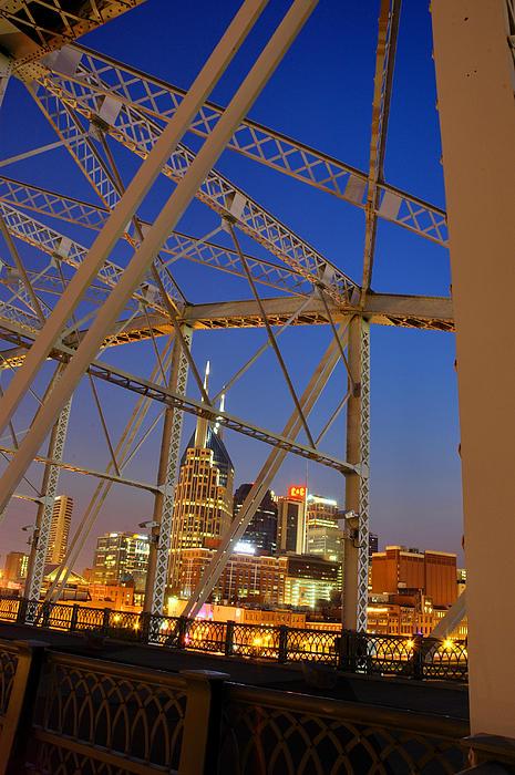 Nashville Bridge Print by Zachary Cox
