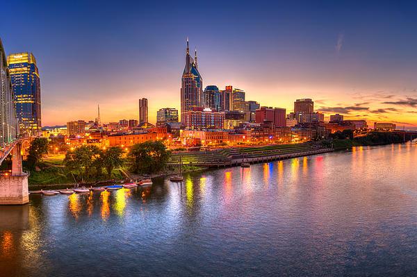 Nashville Skyline Print by Brett Engle