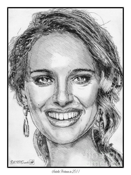Natalie Portman In 2011 Print by J McCombie