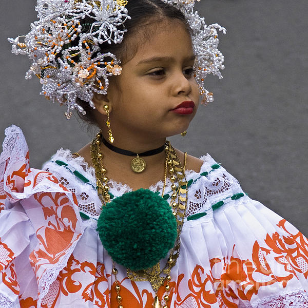 National Costume Of Panama Print by Heiko Koehrer-Wagner