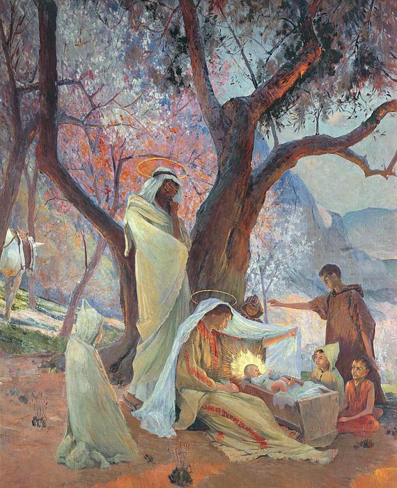 Nativity Print by Frederic Montenard