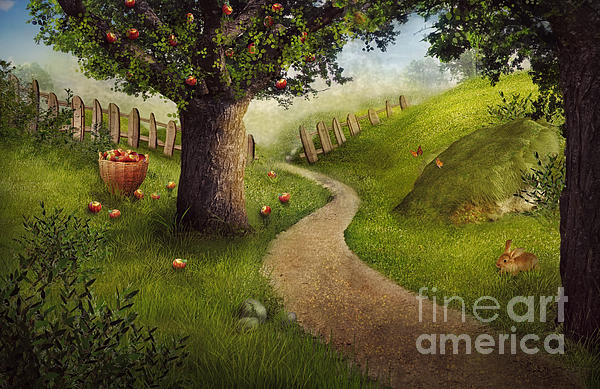 Nature Design - Apple Orchard Print by Mythja  Photography